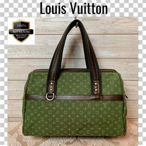 Louis Vuitton satchel bag josephine gm green lin